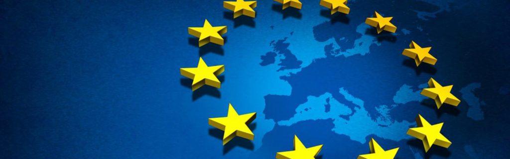 mapa mundi simbolo da união europeia rgpd en espana