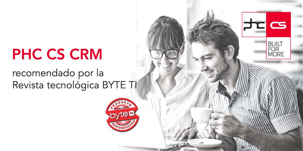 La solución de CRM de PHC CS se ha distinguido con el sello de recomendación de la conocida revista BYTE TI.