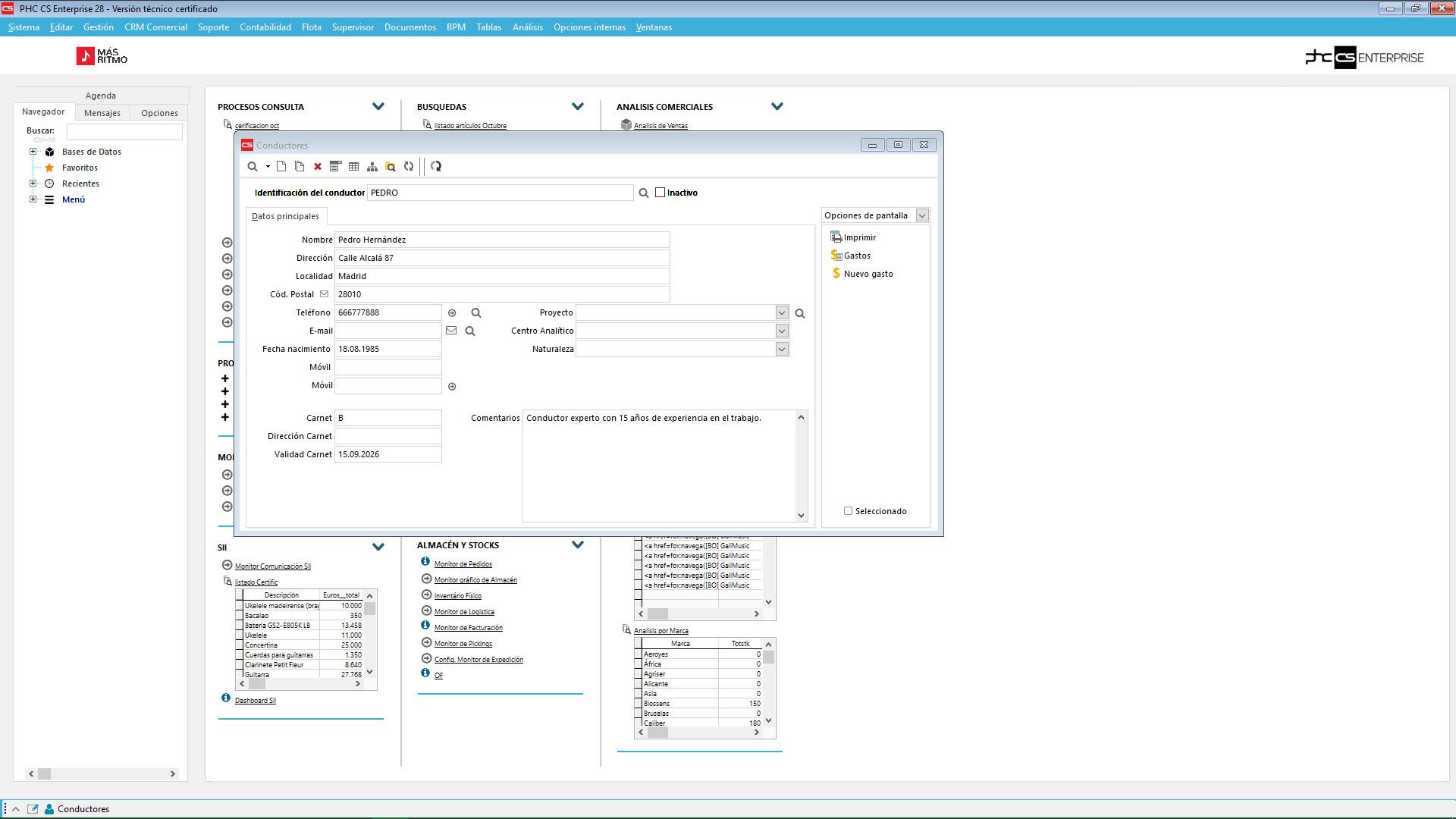 Control total sobre conductores software de gestión para flotas